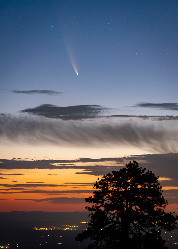 Neowise Comet rising above the high desert